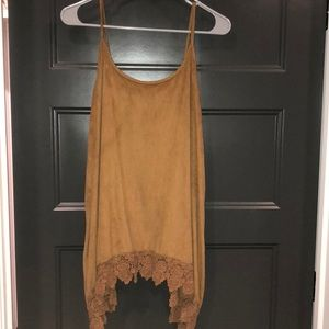 Maurice's size 0 suede tank!